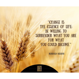 """Change is the essence of life..."" -Reinhold Niebuhr"