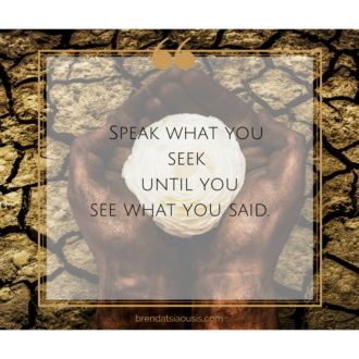 """Speak what you seek until you see what you said."""